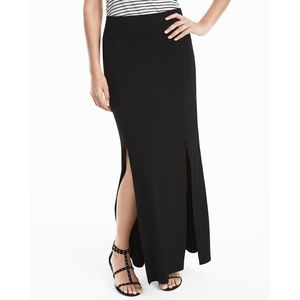 White House Black Market Knit Split Maxi Skirt